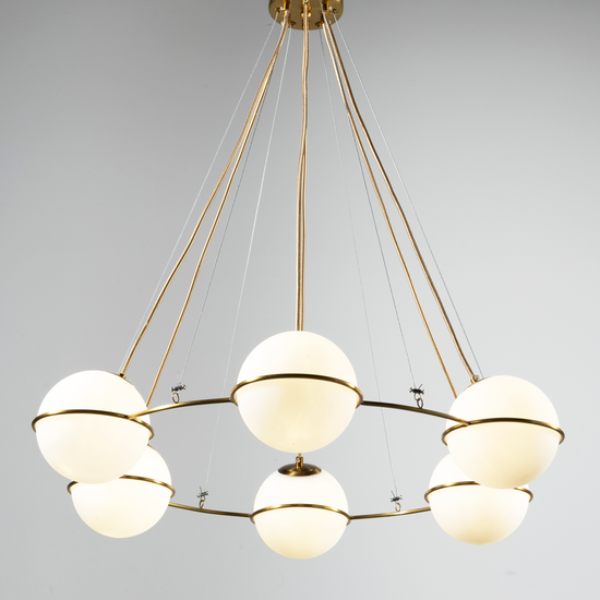 Orion Milk Glass Globe Chandelier
