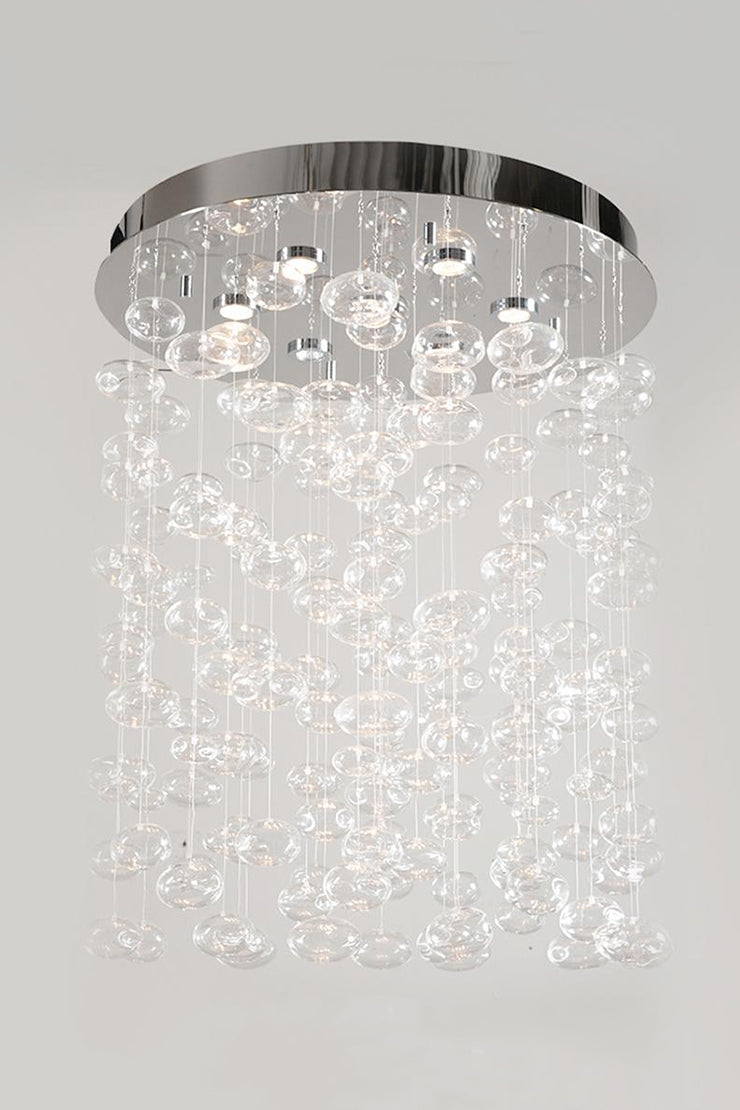 BELLA GLASS BUBBLES CHANDELIER