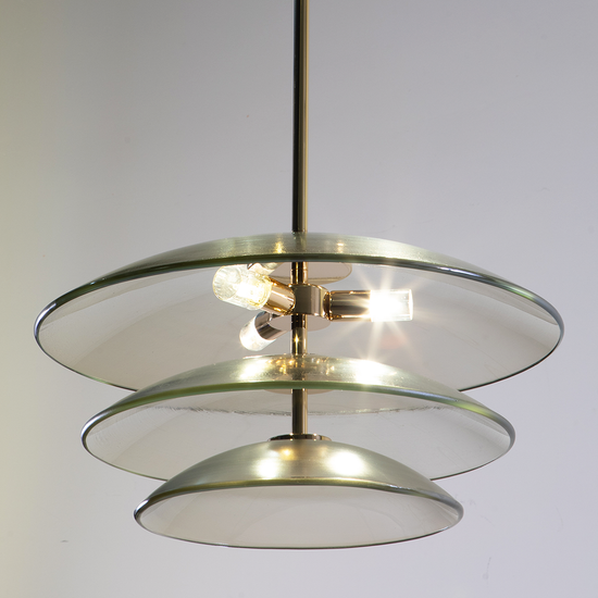 Cato Gold Glass Pendant Light
