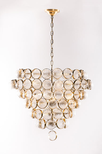 Dominique Ribbed Glass Globe Chandelier