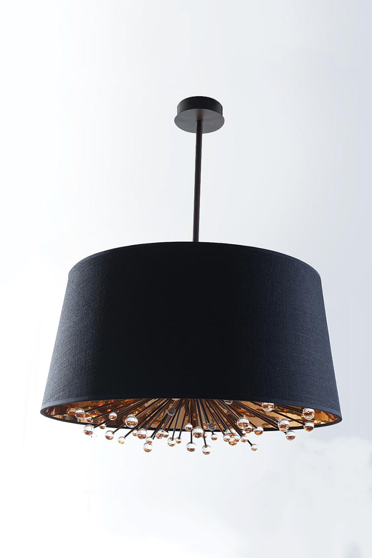 ISLA BLACK SHADE CHANDELIER