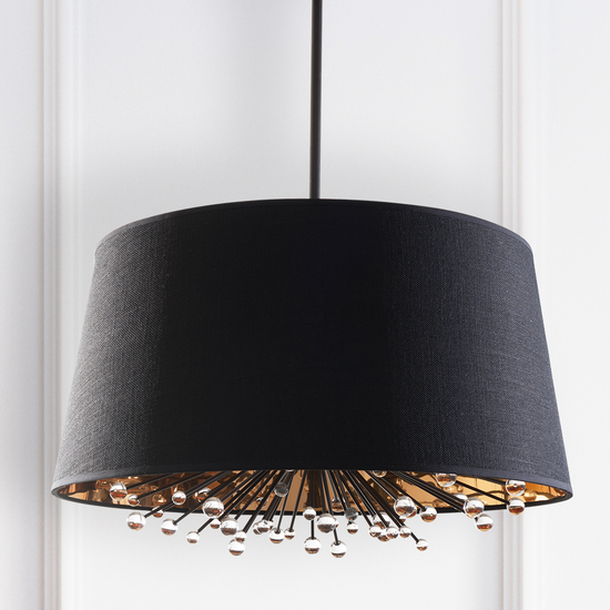 Isla Black Silk Shade Chandelier