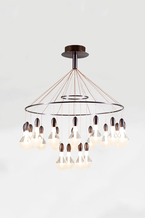 Madeira Satin Bronze Contemporary Chandelier