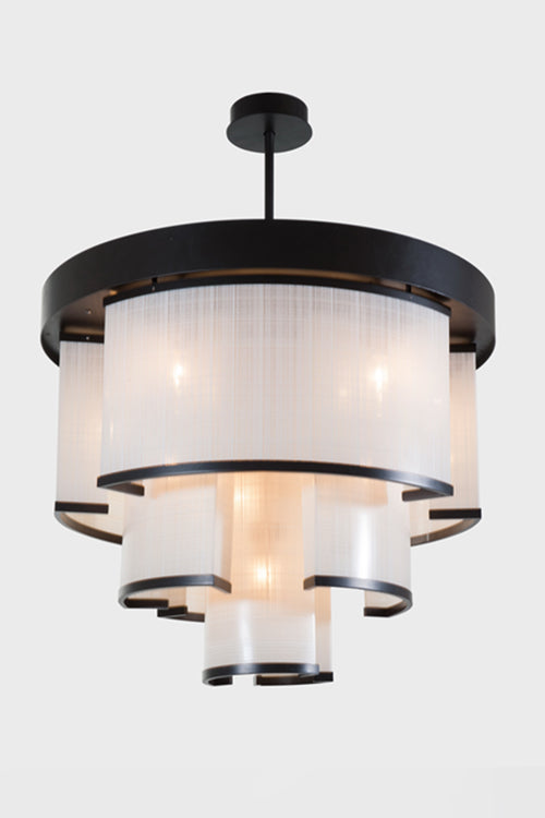 TREMAINE FAUX LINEN FABRIC CHANDELIER