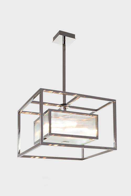 UPTON GEOMETRIC STAINLESS STEEL CHANDELIER