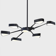 Ursa Black Pearl Contemporary Retro Chandelier in matte acid black