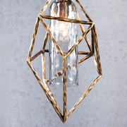 VESTA GEOMETRIC SMOKED GLASS PENDANT LIGHT