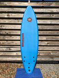 Liquid Shredder FSE 6' blue high-performance beginner surfboard soft top.