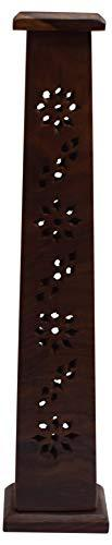 Wooden Incense Tower Burner Stand Holder for Sticks Indian Handcrafted Ash Catcher Home - wallets for men's at mens wallet
