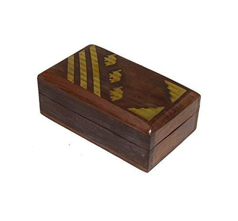 OM SHRI OM Rosewood Womens Box Jewelry Organizer Decorative Table Piece Handcrafted Indian Product - wallets for men's at mens wallet