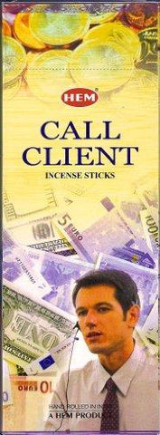 1 X Call Client - 120 Sticks Box - Hem Incense