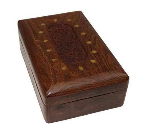 OM SHRI OM Handmade Decorative Jewelry Box Trinket Organizer Table from India - wallets for men's at mens wallet