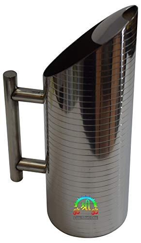 Stainless Steel Water Pitcher with Ice Guard Lining Jug 1.5 L (50 oz) Capacity - wallets for men's at mens wallet