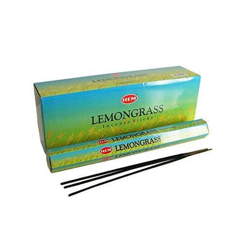 asah 120 Incense Sticks Bulk Pack, Hem, Zen Aromatherapy, 6 Boxes of 20 Sticks Lemongrass