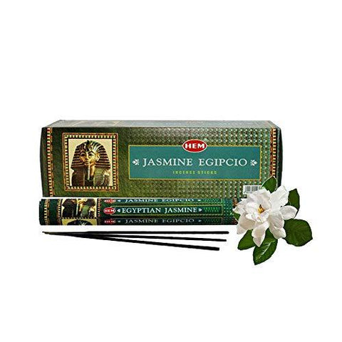 120 Incense Sticks Bulk Pack, HEM, Zen Aromatherapy, 6 Boxes of 20 Sticks - Egyptian Jasmine