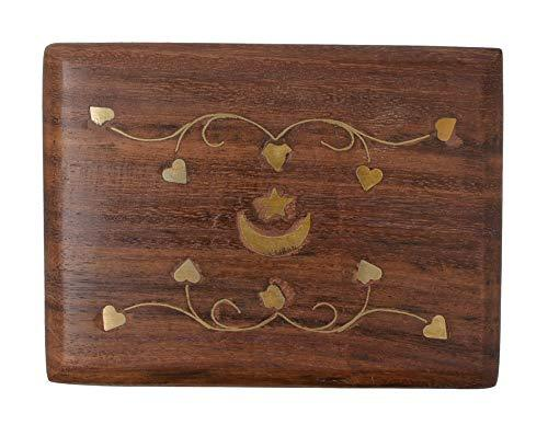 OM SHRI OM Small Decorative Box Jewelry Trinket Organizer Handcrafted Finest Rosewood Keepsake - wallets for men's at mens wallet