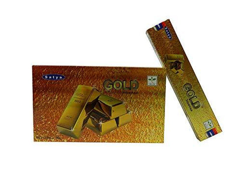 Satya Nag Champa Gold incense sticks-12packs x 15grams - wallets for men's at mens wallet