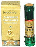 Patchouli Nag Champa - Nandita Incense Oil/Roll On - 1/4 Ounce Bottle - wallets for men's at mens wallet