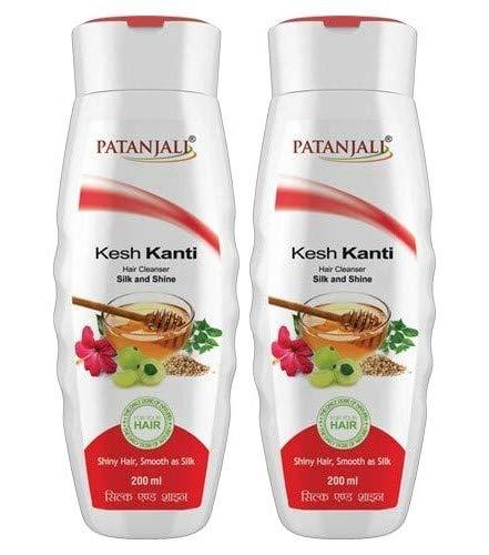 Patanjali Ayurved Limited Kesh Kanti Hair Cleanser Silk and Shine, 200ml (Pack of 2)