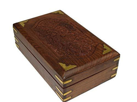 OM SHRI OM Rosewood Keepsake Beautiful Ladies Box Jewelry Organizer Handcrafted Product - wallets for men's at mens wallet