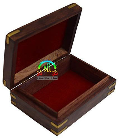 Rosewood Keepsake Box Jewelry Trinket Organizer Handcrafted Elephant and Floral Design - wallets for men's at mens wallet