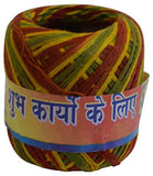Handmade Religious Cotton Thread, Good Luck Pooja Dhaaga, Wrist Roll, for Pujan, Worship Wrist Thread Band Cotton Mauli Thread - wallets for men's at mens wallet
