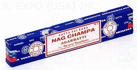 A Bit of Deja Vu The Original Satya Sai Baba Nag Champa Incense (15 Gram Box)