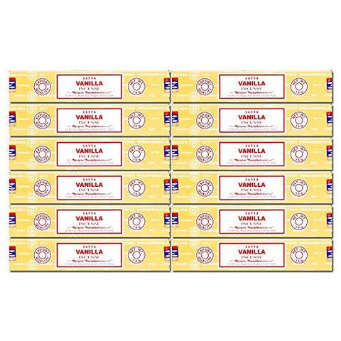 Satya Nag Champa Vanilla Incense Sticks, 12packs x 15grams - wallets for men's at mens wallet