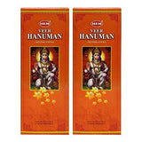 Hem Veer Hanuman Incense Sticks Agarbatti Masala - Pack of 12 Tubes, 20 Sticks Each Box, Total 240 Sticks - Quality Incense Hand Rolled in India for Healing Meditation Yoga Relaxation Prayer Peace