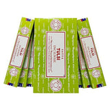 Satya Tulsi Agarbatti Pack of 12 Incense Sticks Boxes, 15 gms Each, Traditionally Handrolled in India