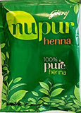 Nupur Henna Mehendi  Pure for Silky & Shiny Hair 400g X Pack of 2