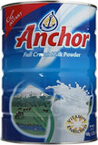 Anchor Full Cream Milk Powder -900g/2lb - PACK OF 4