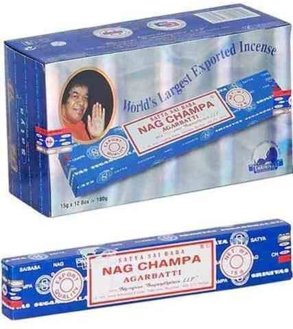 Nag Champa Incense 180gm (15g12) SATYA SAI Baba Incense Stick Natural Masala Base Incense Blessed