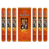Hem Veer Hanuman Incense Sticks Agarbatti Masala - Pack of 6 Tubes, 20 Sticks Each Box, Total 120 Sticks - Quality Incense Hand Rolled in India for Healing Meditation Yoga Relaxation Prayer Peace