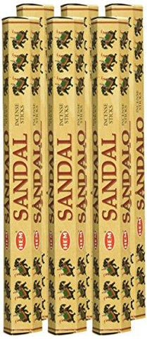 Hem Sandal Incense Stick, Box contains 6 hexa tubes of 20g each