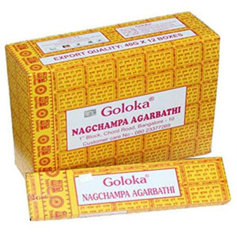 Goloka NAG Champa Incense Sticks 16g Boxes (4)
