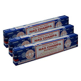Satya Sai Baba Nag Champa Agarbatti Pack of 3 Incense Sticks Boxes 15gms Each Fine Quality Incense Sticks