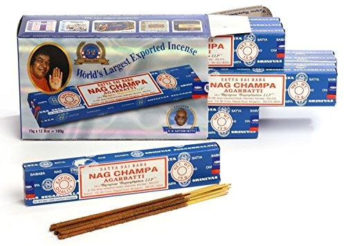 Sai Baba Nag Champa Agarbathi 15Gm X 12 packs (Worlds's Largest Exported Incense Stick)