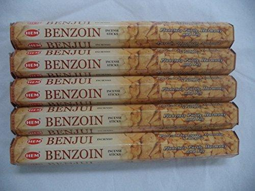 HEM Benzoin 100 Incense Sticks (5 x 20 stick packs)