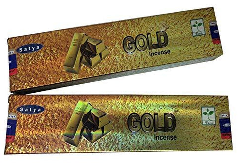 Satya Gold Incense Sticks - Pack of 2 (15 Gram Each)