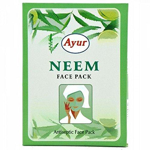 AYUR HERBAL NEEM Antiseptic FACE PACK POWDER - PACK OF 6 (100GM6) 600 Gms