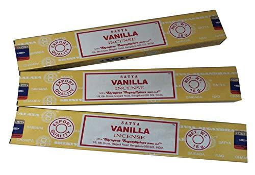 Satya Sai Baba Nag Champa - Vanilla Incense Stick - Pack of 3 (15 Gram Each)