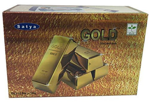 Satya Gold Incense Stick Box - Pack of 12 (15 Gram Each) - wallets for men's at mens wallet