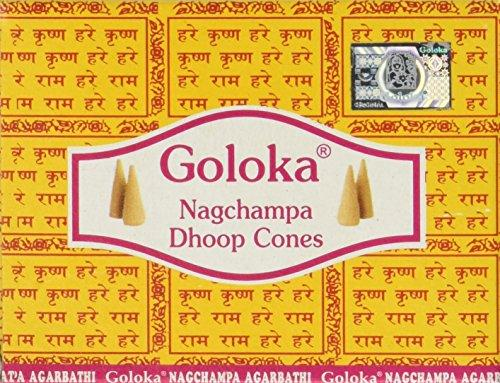 Goloka Nag Champa Dhoop Cones - Case of 12 Boxes - wallets for men's at mens wallet