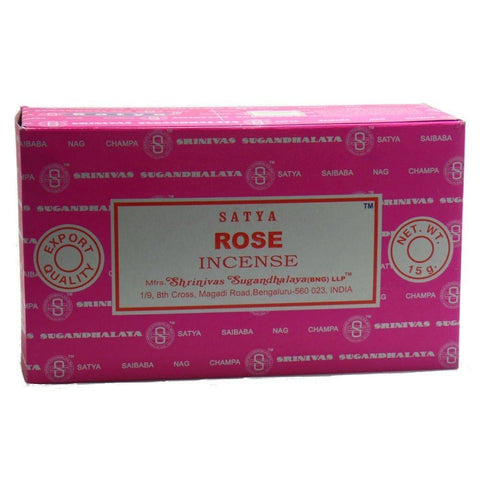 Satya Nag Champa Rose Incense Sticks, 12 Count - wallets for men's at mens wallet