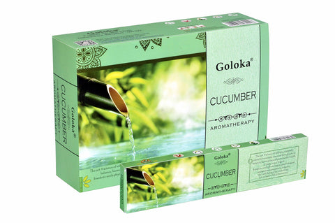 Goloka Aroma Cucumber series collection incense sticks- 6 boxes of 15 gms (Total 90 gms) - wallets for men's at mens wallet