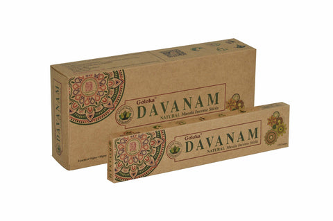 Goloka Davanam Organika collection incense sticks- 6 boxes of 15 gms (Total 90 gms) - wallets for men's at mens wallet