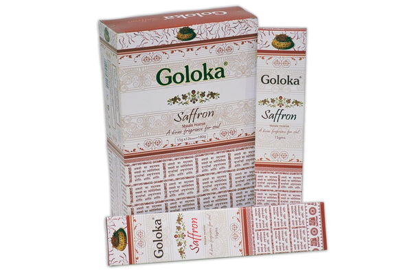 Goloka Premium Saffron series collection high end incense sticks- 6 boxes of 15 gms (Total 90 gms) - wallets for men's at mens wallet
