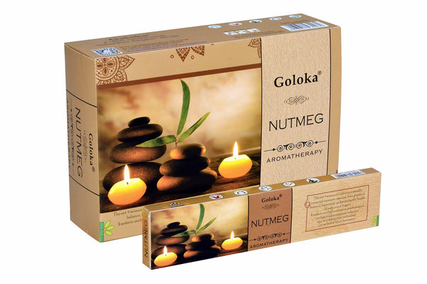 Goloka Aroma Nutmeg series collection incense sticks- 6 boxes of 15 gms (Total 90 gms) - wallets for men's at mens wallet