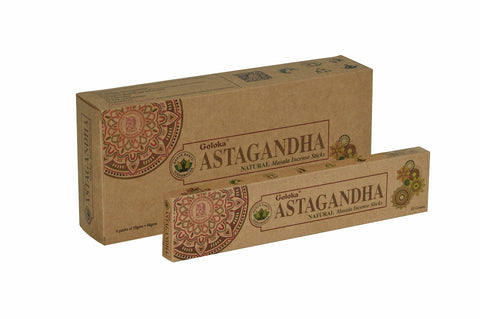 Goloka Astagandha Organika collection incense sticks- 6 boxes of 15 gms (Total 90 gms) - wallets for men's at mens wallet
